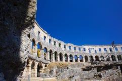 Romersk amphitheater i Pula Royaltyfri Fotografi