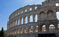 Romersk amphitheater, Pula, Kroatien Fotografering för Bildbyråer
