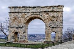 Romersk båge av Medinaceli det3rd århundradeSoria landskapet Spanien Royaltyfri Fotografi