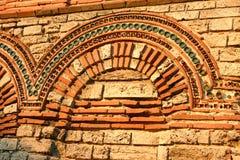Romersk basilika i Nessebar Arkivfoto