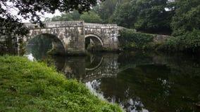 Romersk bro av brandomil royaltyfria bilder