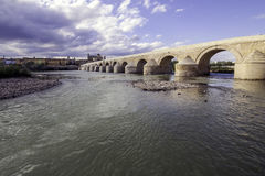 Romersk bro av Cordova Royaltyfria Foton