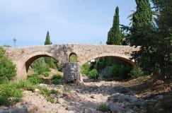Romersk bro, Pollenca, Majorca arkivbilder