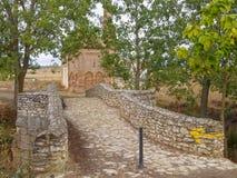 Romersk bro - Sahagun royaltyfria bilder
