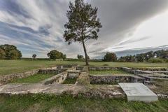 Romersk fästning Abusina Arkivfoto