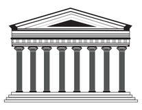 Romersk/grekisk vektorpanteontempel med doriska kolonner royaltyfri illustrationer