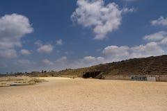 Romersk kapplöpningsbana i Caesarea royaltyfri bild