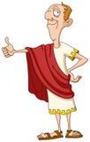 Romersk kejsare med tummen upp royaltyfri illustrationer