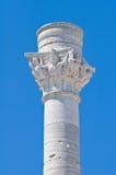 Romersk kolonn. Brindisi. Puglia. Italien. Arkivfoton