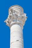 Romersk kolonn. Brindisi. Puglia. Italien. Arkivfoto