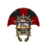 Romersk legionärhjälm på en isolerad vit bakgrund illustration 3d Arkivbild