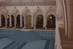 Romersk lyxig simbassäng Arkivfoto