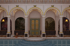 Romersk lyxig simbassäng stock illustrationer