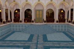 Romersk lyxig simbassäng royaltyfri illustrationer
