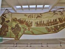 Romersk målning i det Bardo museet, Tunis, Tunisien arkivfoto