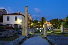 Romersk marknadsplats, Athens Arkivfoton