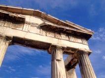 Romersk marknadsplats på Aten Grekland Royaltyfri Foto