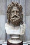Romersk marmorbyst av Zeus Royaltyfria Foton