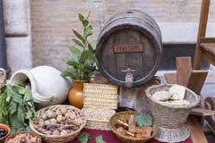 Romersk mat från välden Royaltyfria Foton