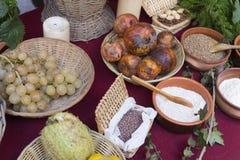 Romersk mat från välden Arkivbilder