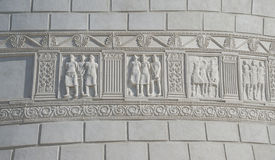 Romersk monument i Adamclisi, Rumänien arkivbild
