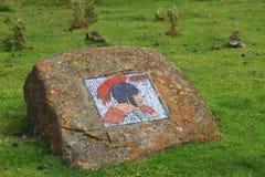 Romersk mosaik, North Yorkshire Arkivfoto