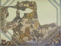 Romersk mosaik som visar Orpheus Myth fotografering för bildbyråer