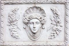 romersk skulptur för konst som 3D göras av vit murbruk Royaltyfria Foton