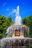 Romersk springbrunn i Peterhof Royaltyfria Bilder