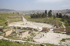 Romersk stad av Gerasa Arkivbilder