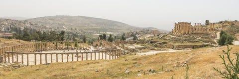 Romersk stad Jerash i Jordanien Arkivfoton
