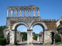 Romersk stad-port i Frankrike Arkivbilder