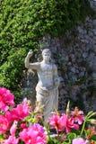 Romersk staty i Capri Arkivbilder