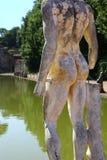 Romersk staty i villan Adriana, Italien Arkivbilder