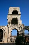 Romersk teater ('den Théâtre antikviteten'), Arles, Frankrike royaltyfri foto