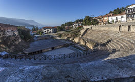 Romersk teater i Ohrid Royaltyfri Fotografi