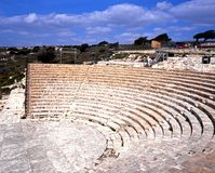 Romersk teater, Kourion Fotografering för Bildbyråer