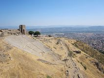 Romersk teater på Pergamum Arkivfoton