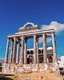 Romersk tempel i Merida Arkivbild