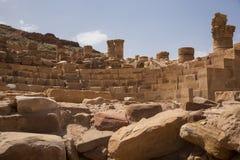 Romersk tempel i Petra Royaltyfria Foton