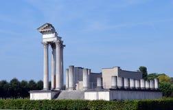 Romersk tempel på Xanten, Tyskland Arkivbilder