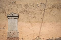 Romersk tombstone Royaltyfria Foton