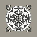 Romersk traditionell mosaik Arkivbilder