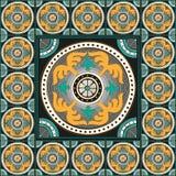 Romersk traditionell mosaikhemdekor Fotografering för Bildbyråer