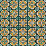 Romersk traditionell mosaikväggdekor Arkivfoto