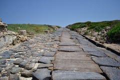 Romersk väg, Sardinia Royaltyfri Foto