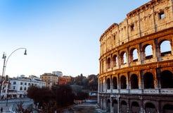 Romerska amfiteatrar i Rome på Januari 5, 2015 Arkivfoton