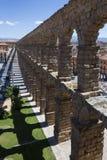 Romerska Aquaduct - Segovia - Spanien Arkivbilder