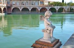 Romerska bad av den spanska brunnsortsemesterorten i Tarragona Arkivbilder