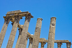 Romerska byggnadskolonner Arkivbilder